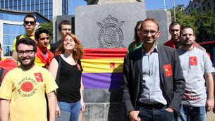 """Joan Herrera: """"La proclamació de Felip VI no és un acte de coronació, sinó d'imposició."""" (Foto: ACN)"""