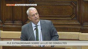 """Santi Rodriguez (PPC): """"La Llei vol decidir una qüestió sobre la qual els catalans no són sobirans."""""""