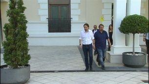 Puigdemont i Iglesias es veuen a Madrid abans de la conferència