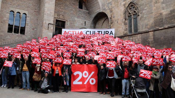 El món de la cultura s'uneix per demanar el 2% del pressupost
