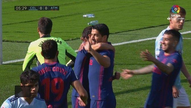 Luis Suárez decideix per l'Atlètic a Vigo (0-2) i Simeone ja suma 200 triomfs
