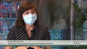 Empleats de diverses empreses retornen a l'oficina amb la millora de les xifres de la pandèmia