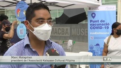 Èxit en la jornada de vacunació de la comunitat filipina de Barcelona