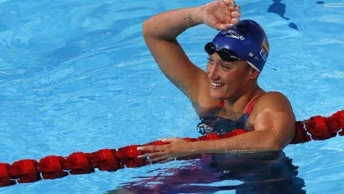 Mireia Belmonte es classifica per a la final dels 400 m estils amb el segon millor temps (4.34.64)