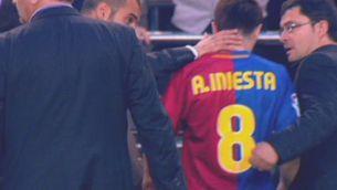 Iniesta, l'únic que ha jugat les tres finals