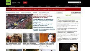Russia Today en espanyol posa com a primera notícia de la web la Diada