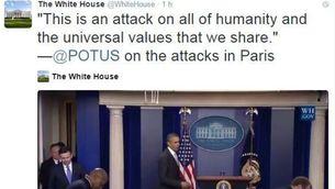 Un dels tuits de la Casa Blanca