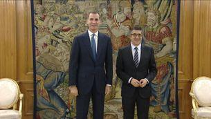 El rei amb el socialista Patxi López