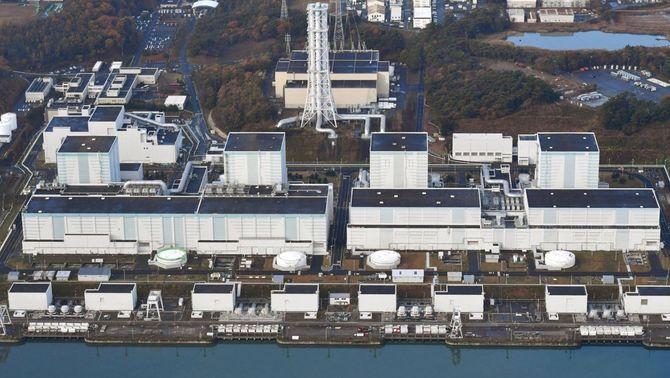 Vista aèria de la central nuclear de Fukushima el novembre del 2016