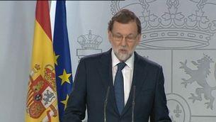 Rajoy insta Puigdemont a aclarir si ha declarat la independència