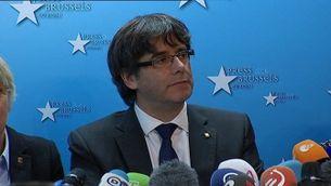 La roda de premsa de Carles Puigdemont a Brussel·les