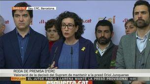 Marta Rovira (ERC) valora la decisió del Suprem de mantenir a la presó Oriol Junqueras