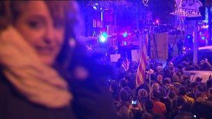 Protestes prop de la Delegació del Govern espanyol a Barcelona