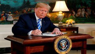 Trump firma la retirada de l'acord nuclear