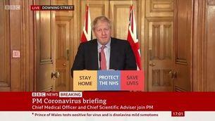 Com són les rodes de premsa del govern britànic per informar del coronavirus?