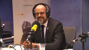 El conseller d'Interior, Miquel Buch, durant l'entrevista a Catalunya Ràdio