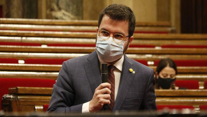 Pere Aragpnès, en la compareixença al Parlament