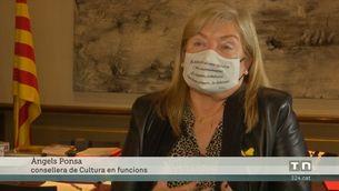 La consellera de Cultura en funcions, Àngels Ponsa, lamenta la mort de Margarit