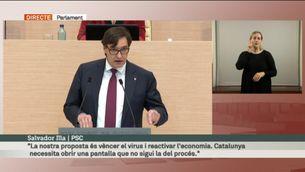 """Salvador Illa (PSC): """"Vostè aboca el país a noves eleccions"""""""
