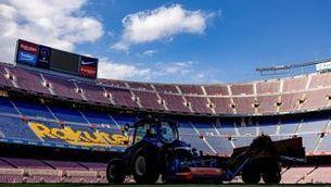 Gespa nova al Camp Nou, pensant en el Gamper