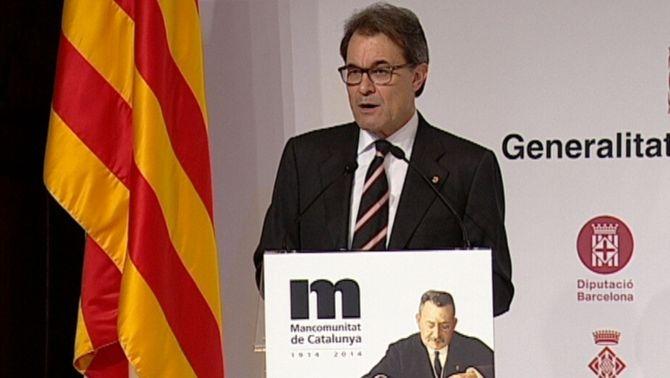 """Mas adverteix que el """"no"""" del Congrés al traspàs de la competència per organitzar la consulta no podrà aturar la voluntat del poble de Catalunya"""
