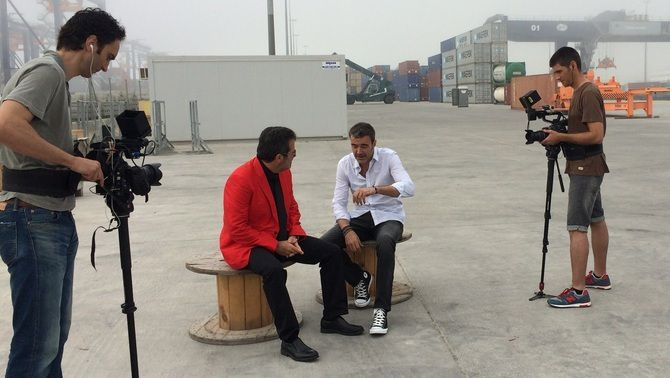 Els presentadors del programa, en un moment del rodatge