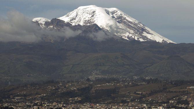 El volcà Chimborazo és més alt que l'Everest, calculat des del centre de la Terra