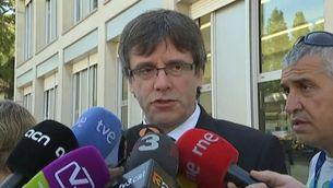 """Puigdemont: """"És la confirmació d'una sospita"""""""
