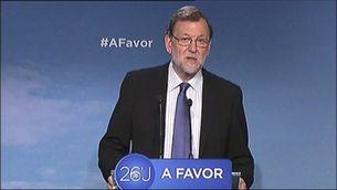 Rajoy espera governar en el termini d'un mes