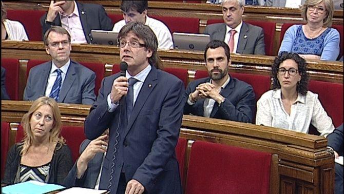 """Puigdemont qualifica d""""antisistema Fernández Díaz"""" i fa una crida per """"marxar al més aviatpossible"""" de l'Estat"""