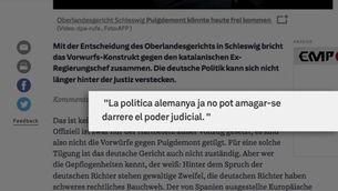 Reaccions de la premsa alemanya a l'alliberament de Puigdemont