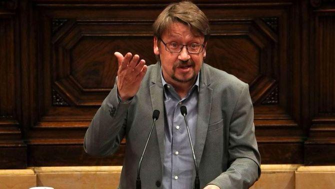 Xavier Domènech durant una intervenció al Parlament de Catalunya (Reuters)