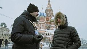Halldor Mar, a Moscou, conversant amb Mikhail Khaminsky