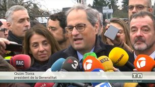 El govern català i el Parlament donen suport a Puigdemont i Comín i denuncien la situació de Junqueras