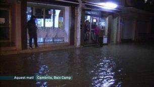 El temporal Gloria afecta molts municipis de la Costa Daurada