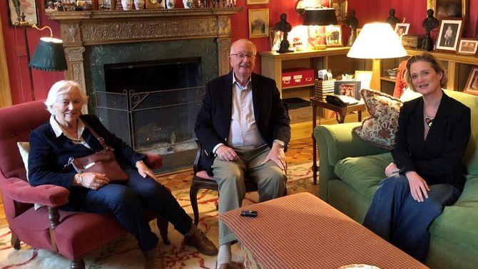 Primera foto del rei emèrit belga amb Delphine, la filla que ha trigat 52 anys a reconèixer