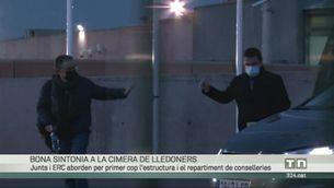 ERC i JxCat desencallen les negociacions per formar govern en una llarga trobada a la presó de Lledoners