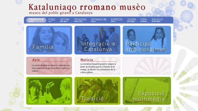 Imatge del web del Museu Virtual del Poble Gitano.