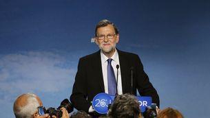 Rajoy, durant la roda de premsa l'endemà del 26-J (EFE)