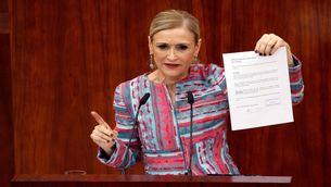 Cristina Cifuentes, la setmana passada al ple de l'Assemblea de Madrid