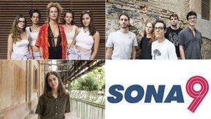 Els finalistes Sona9 2019: Joina, Urpa i Maria Jaume Martorell