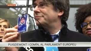 Carles Puigdemont i Toni Comín s'acrediten com a eurodiputats
