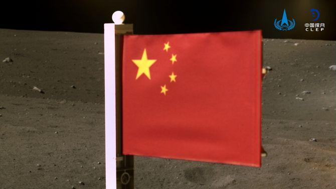 La Xina planta la seva bandera a la Lluna, segon país a fer-ho després de 50 anys