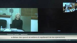 Corinna Larsen diu que estava aterrida per l'exdirector del CNI, i que el rei Joan Carles el dirigia