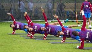 El Barça completa la seva primera sessió d'entrenament a Alemanya