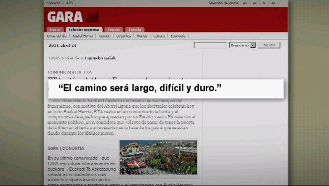 Imatge del comunicat publicat pel diari Gara.