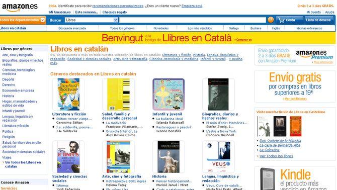 Amazon arriba a Espanya amb un apartat de llibres en català