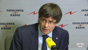 """Carles Puigdemont a """"El matí de Catalunya Ràdio"""""""