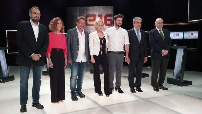 Tots contra el PP, i Esquerra i Convergència contra En Comú Podem, en l'últim debat a sis abans de les eleccions del 26-J
