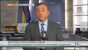 Reaccions des de Madrid al Brexit: Felipe González, Pedro Sánchez i Albert Rivera